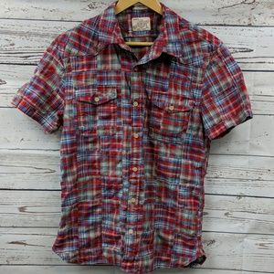 Lucky Brand plaid button up shirt Size Large